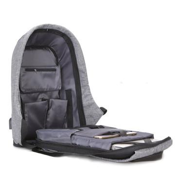 Lopásbiztos hátizsák, szürke Beépített USB porttal