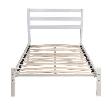 Bella Fém ágykeret ajándék ágyráccsal, 90 x 200 cm, Fehér