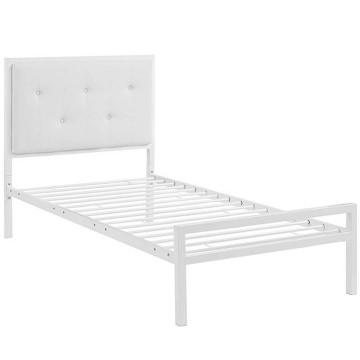 Hanna Fém ágykeret ajándék ágyráccsal, 90 x 200 cm, Fehér