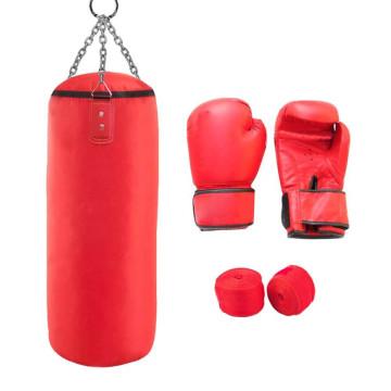 Junior box szett, 10-es méretű kesztyűvel, piros