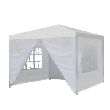 3x3 méteres party sátor, fehér színű