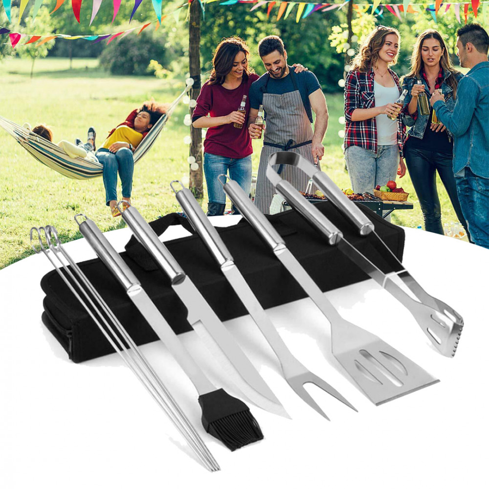 9 részes grill eszköz készlet táskában