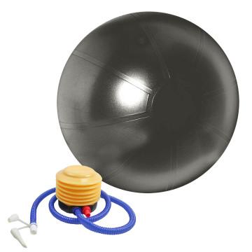 Fitnesz labda, 75 cm-es átmérővel, 150 kg-ig terhelhető, pumpával, szürke