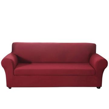 Háromszemélyes kanapévédő huzat, bordó színű