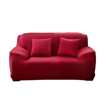Kétszemélyes kanapévédő huzat, bordó színű