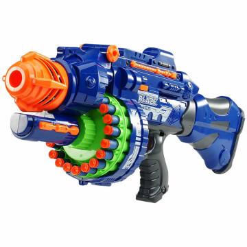 Világító Játékfegyver hanggal, ajándék töltény szettel, kék színű
