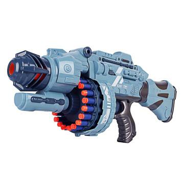 Világító Játékfegyver hanggal, ajándék töltény szettel, szürke színű