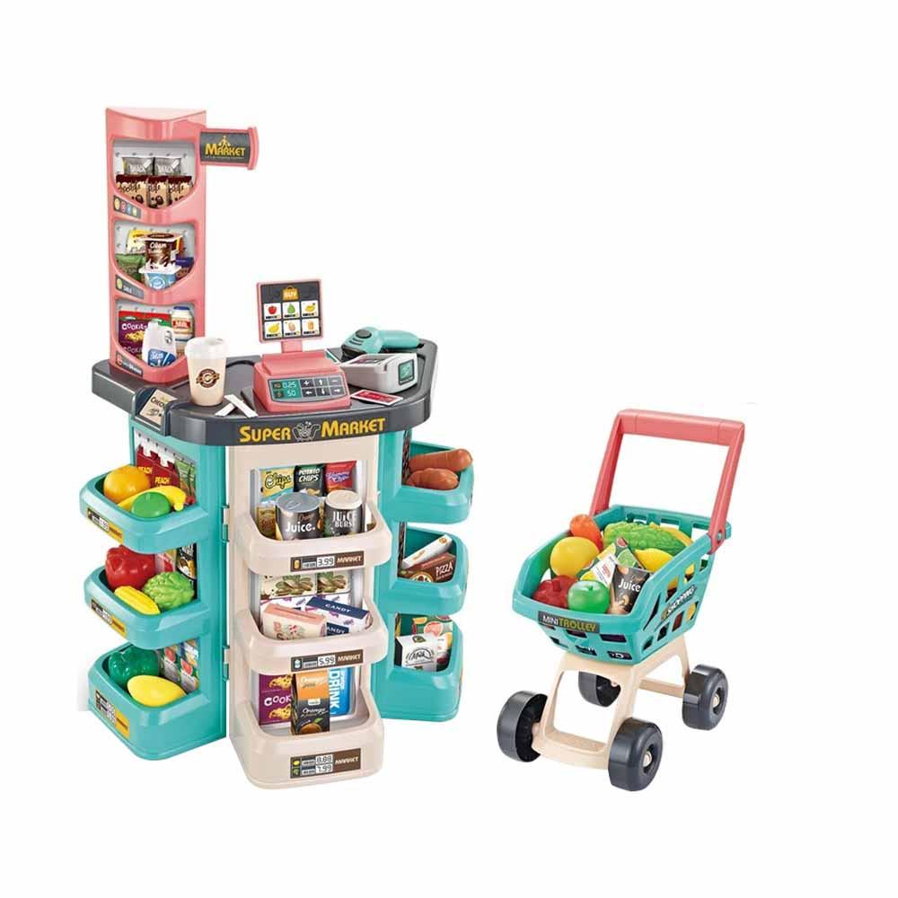 Játék szupermarket, 47 részes, bevásárlókocsival