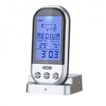 Multifunkciós digitális maghőmérő, riasztási funkcióval