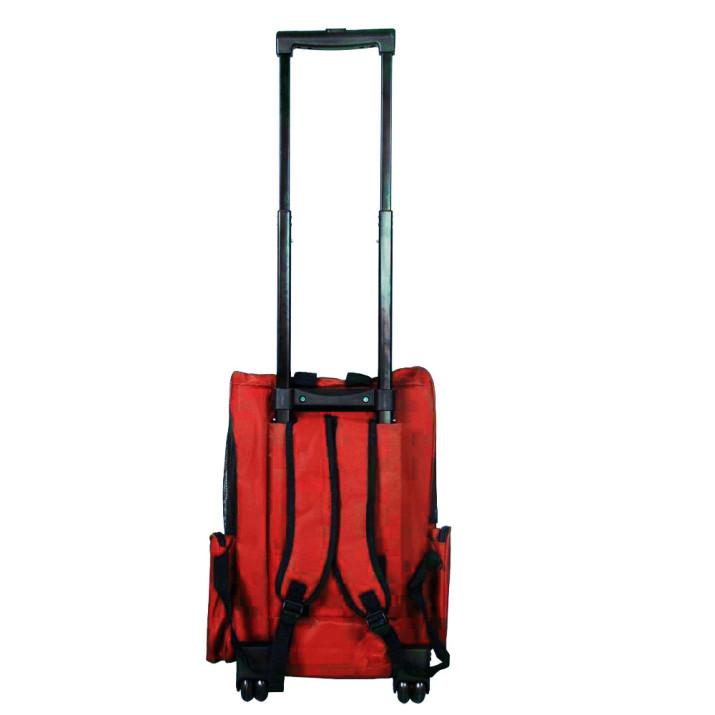2 az 1-ben húzható kisállat hordozó, 15 kg-os teherbírással, piros