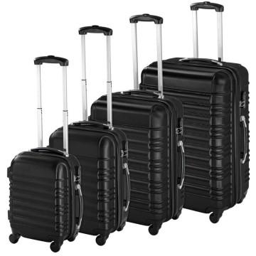 4 db-os merev falú bőrönd szett, Fekete színben - ...