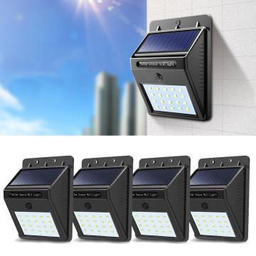 4 db-os falra szerelhető, szolár világítás
