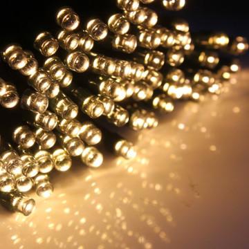 Hangulatos napelemes kerti fényfüzér 100 LED-es, m...