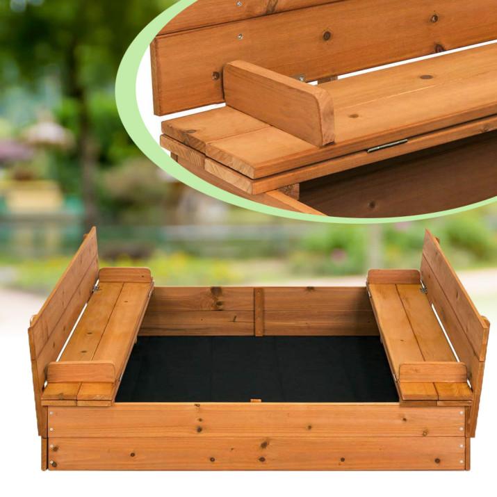Fa homokozó paddá alakítható tetővel - Ingyenes szállítás