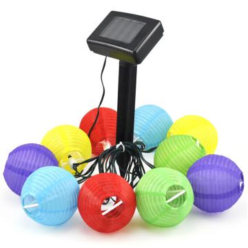 10 db-os színes szolár lampionfüzér