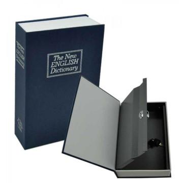 Könyv alakú biztonsági doboz, kék