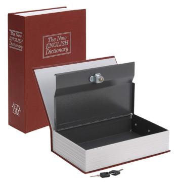 Könyv alakú biztonsági doboz, bordó