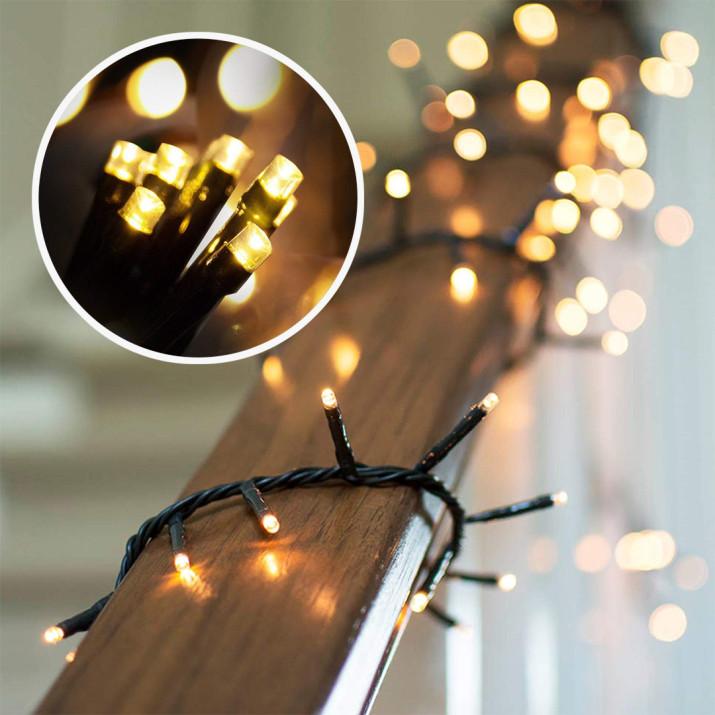 120 LED-es 15 méteres fényfüzér, meleg fehér