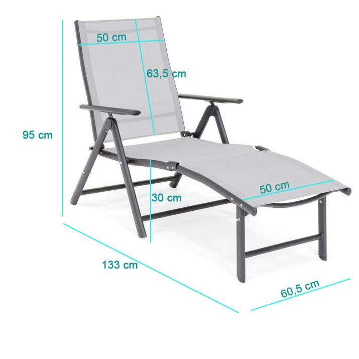 Comfort napozóágy, dönthető és állítható - Ingyenes szállítás