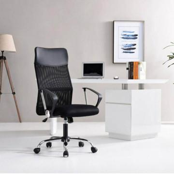 Ergonomikus irodai szék magasított háttámlával, fekete - Ingyenes szállítás