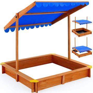 Homokozó árnyékoló tetővel - Ingyenes szállítás