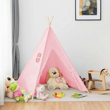 Indián sátor gyerekeknek, Pink színben