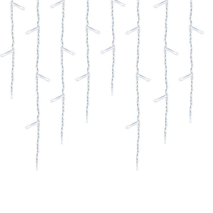 230 LED-es jégcsap fényfüzér, 8,10 m, 8 mód - hidegfehér