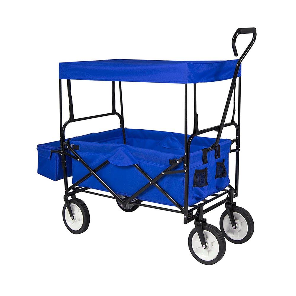 Összecsukható kocsi tetővel, kék