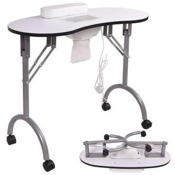 Hordozható manikűr asztal beépített porelszívóval,...