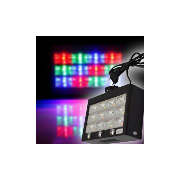 RGB LED stroboszkóp 12 leddel, hangvezérléses és automata mód / 60W