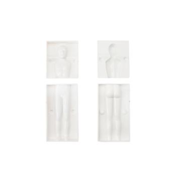 3D test alakú fondant- és marcipánforma / műanyag