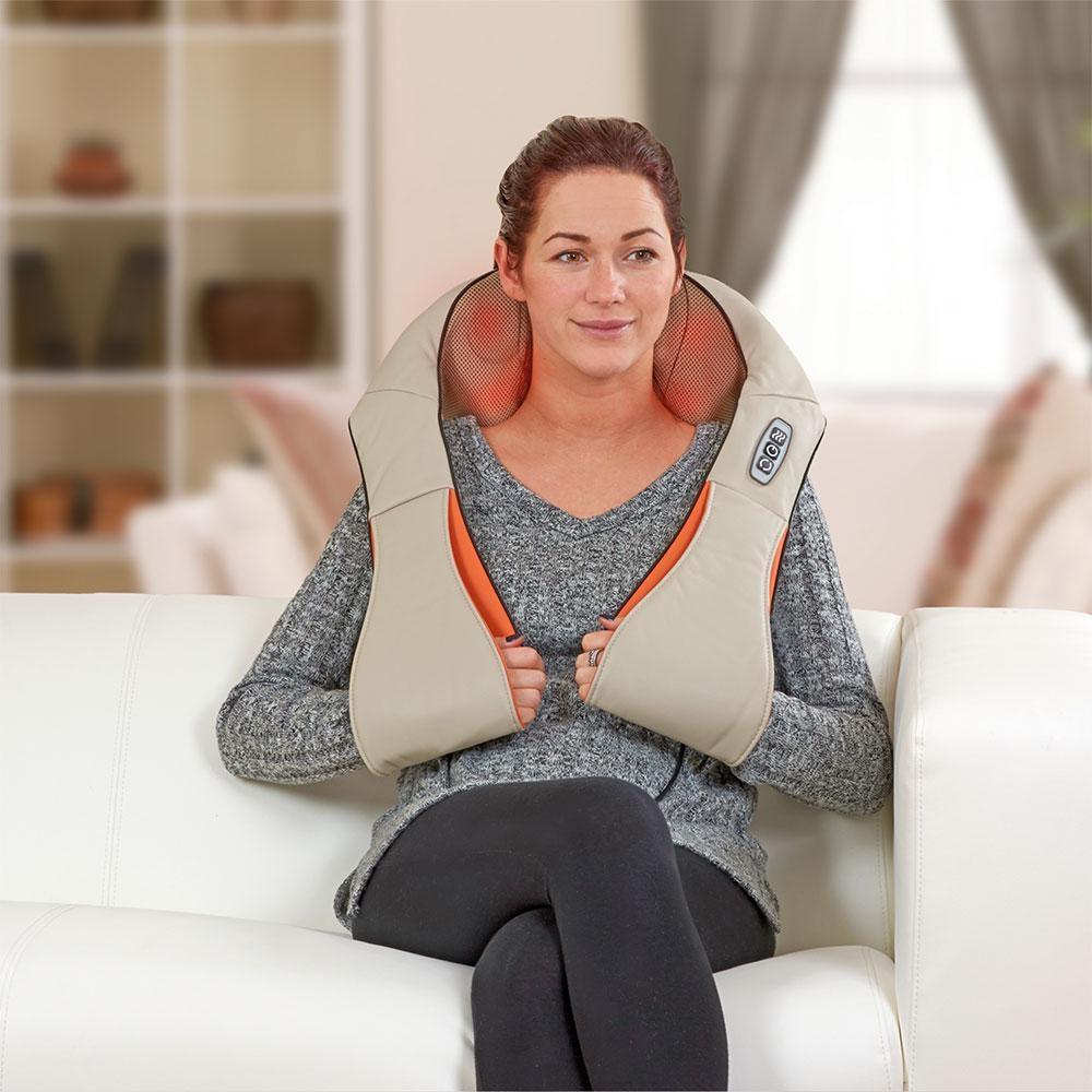 Shiatsu elektromos nyak-, váll- és testmasszírozó készülék