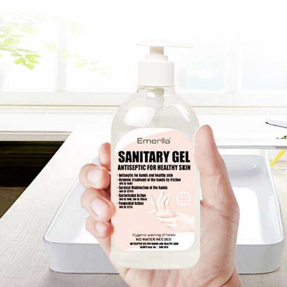 500 ml-es, antibakteriális kézfertőtlenítő gél / 75% alkoholtartalommal
