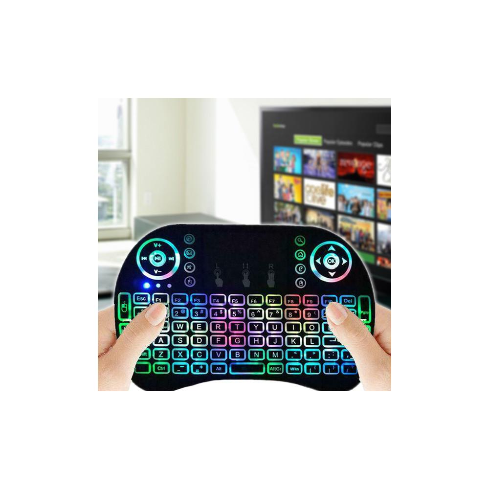 RGB mini vezeték nélküli billentyűzet touchpaddal / okostévéhez és TV boxhoz is