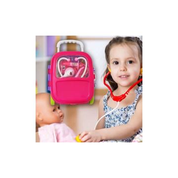 14 részes fogorvosi szett gyermekeknek, gurulós táskában