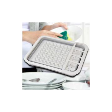 Összecsukható szilikon edény és evőeszköz csepegtető / edényszárító