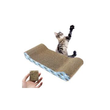 Karton macskabútor és kaparófa / menta illattal