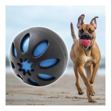 Csipogós játék gumilabda kutyák számára - kék