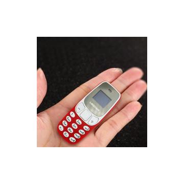 Mini börtön telefon / kártyafüggetlen, Dual SIM mobiltelefon – a világ legkisebb mobilja! Piros
