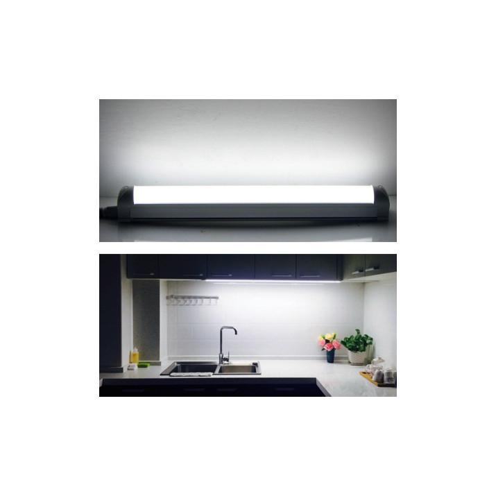 120 cm dupla soros T8 LED fénycső armatúrával / 18W, 192 db SMD leddel - hideg fehér
