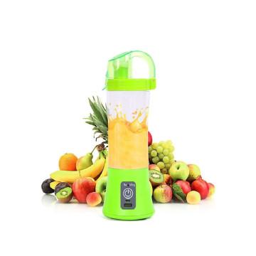 Juice hordozható turmixgép / USB-s smoothie készítő, 380 ml - kék