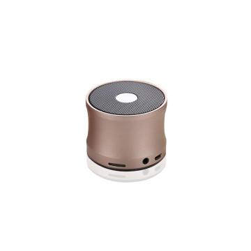 Mini Bluetooth hangszóró és mp3 lejátszó / vezeték nélküli kihangosító - bronz
