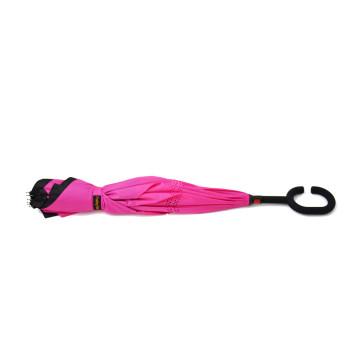 Dupla rétegű fordított esernyő, rózsaszín