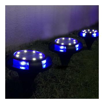 Földbe süllyeszthető solar lámpa / 4 db