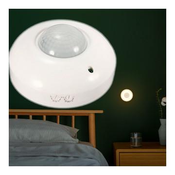 Infrás, mozgásérzékelő éjszakai lámpa, állítható fényerővel