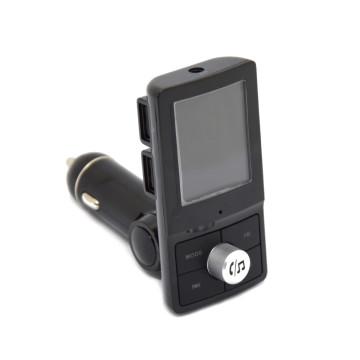 Autós Bluetooth FM traszmitter, színes LCD képernyővel