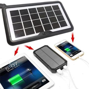 Napelemes töltő, multi USB csatlakozóval