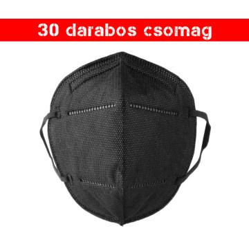 Fekete KN95 légzésvédő arcmaszk / szájmaszk (FFP2) - 30 darab
