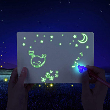 """""""Rajzolj fénnyel!"""" – foszforeszkáló rajztábla"""