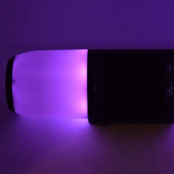 Bluetooth hangszóró / színváltós RGB ledfénnyel - fekete